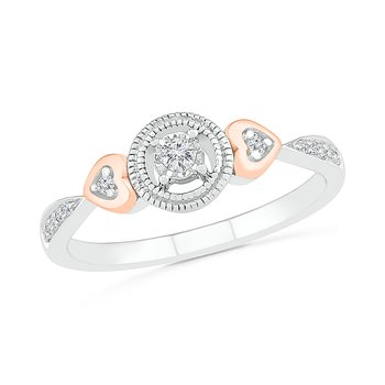 .10ctw Round Halo With Hearts Ring