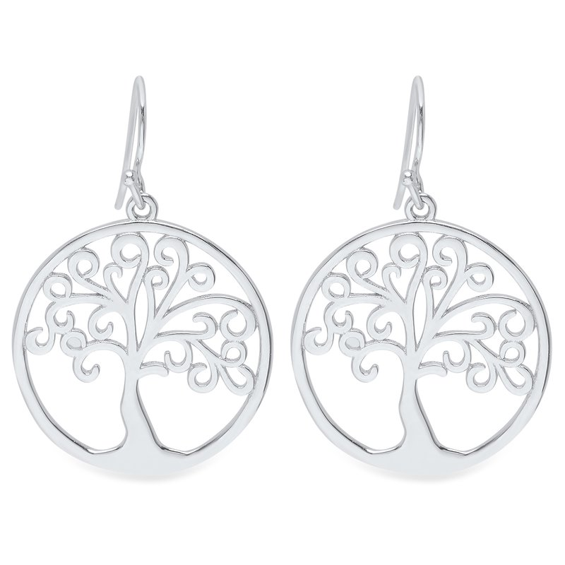 Gifts That Rock Silver Tree of Life Earrings