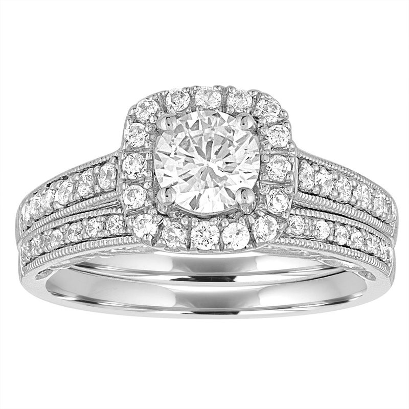 Promise Forever 1 ctw White Gold Bridal Set