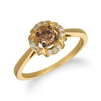 .44ctw Yellow Gold Diamond Ring