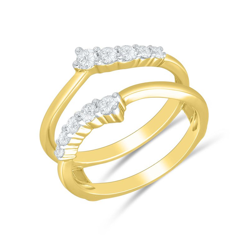 Saslow's & Henebry's Collection 14KY .50ctw Curved Diamond Insert With Solid Gold Swirl