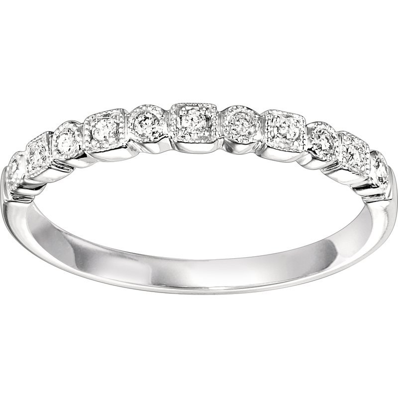 Saslow's & Henebry's Collection .10ctw Diamond Band Mixable White Gold