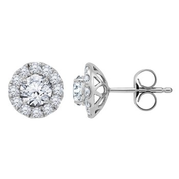 Certified 1 ctw Diamond Earrings