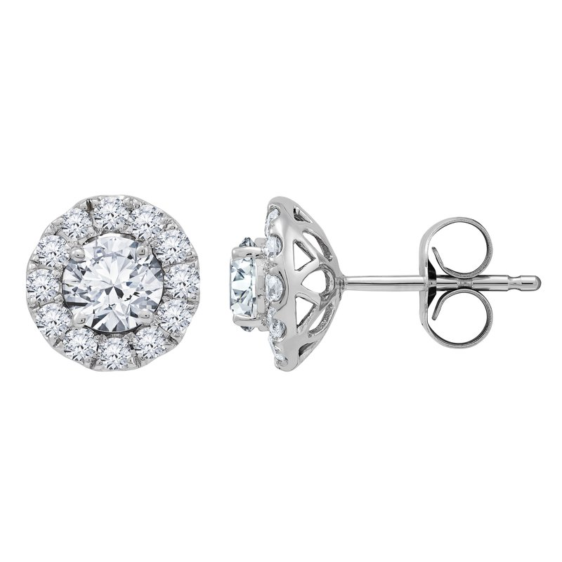 Lab Grown Diamonds Certified 1 ctw Diamond Earrings