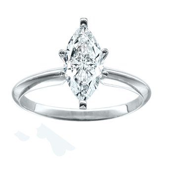 1/3 Marquise Solitaire Engagement Ring