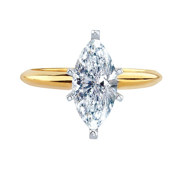 Saslow's & Henebry's Collection 1/3 Marquise Solitaire Engagement Ring