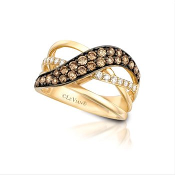 14K Honey Gold™ Ring with Chocolate Diamonds® 3/4 cts., Vanilla Diamonds® 1/4 cts.