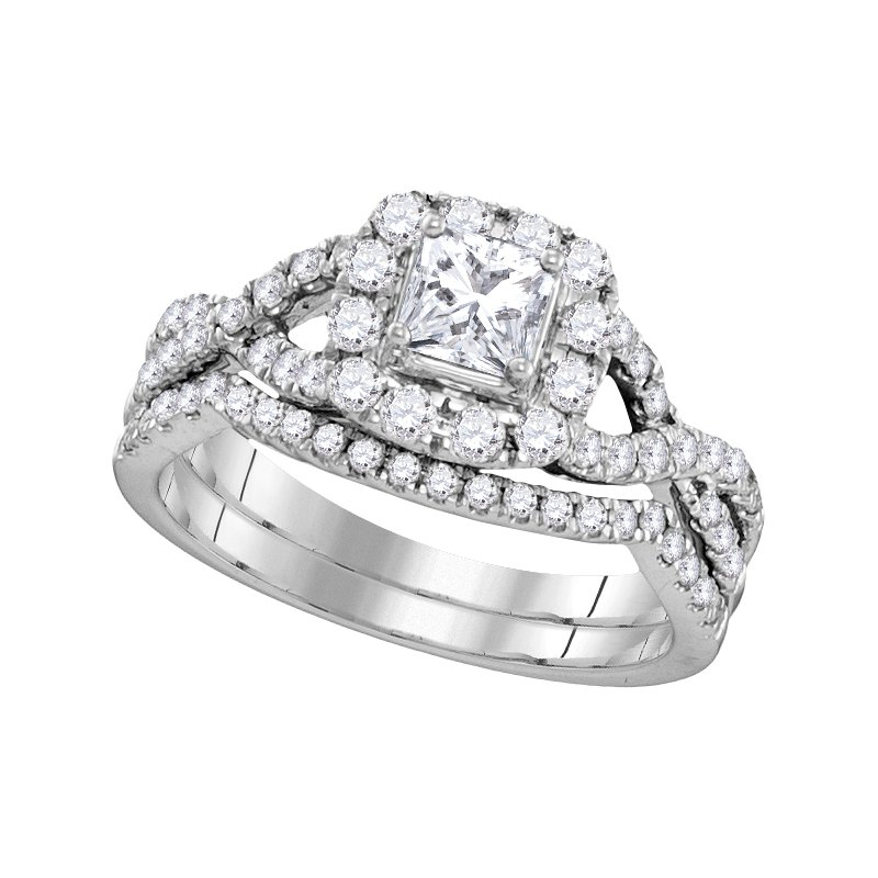 Promise Forever Certified 1ctw Princess Cut Bridal Set