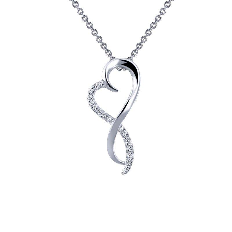 LaFonn Infinity Heart Pendant Necklace