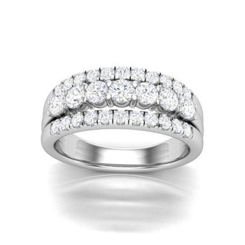 1 ctw 3 Row Diamond Band