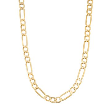 "10K 22"" 8.5mm Light Figaro Necklace"