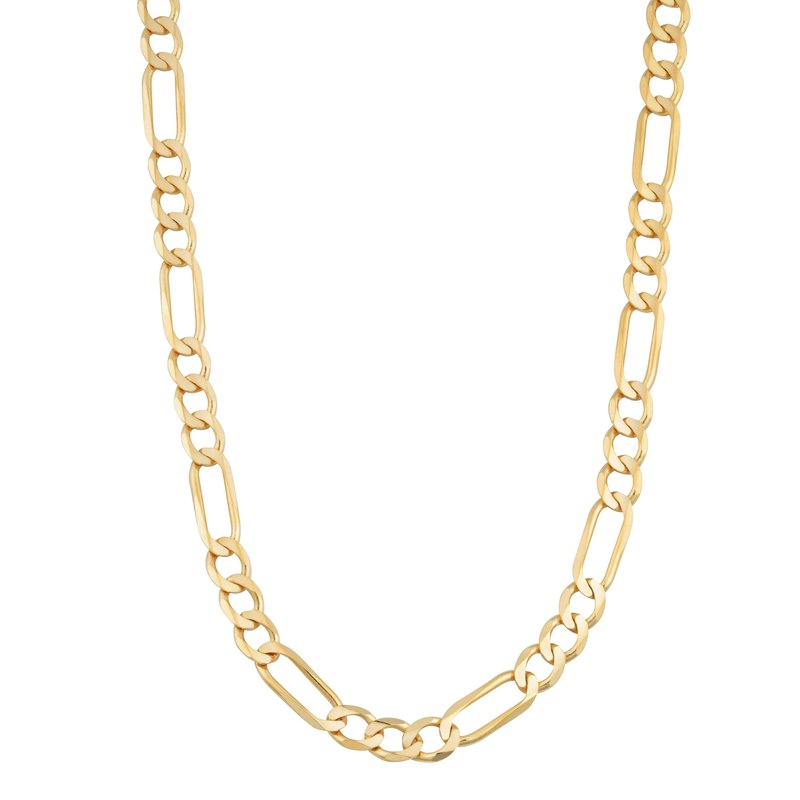 "Gold Chains and Bracelets  10K 22"" 8.5mm Light Figaro Necklace"