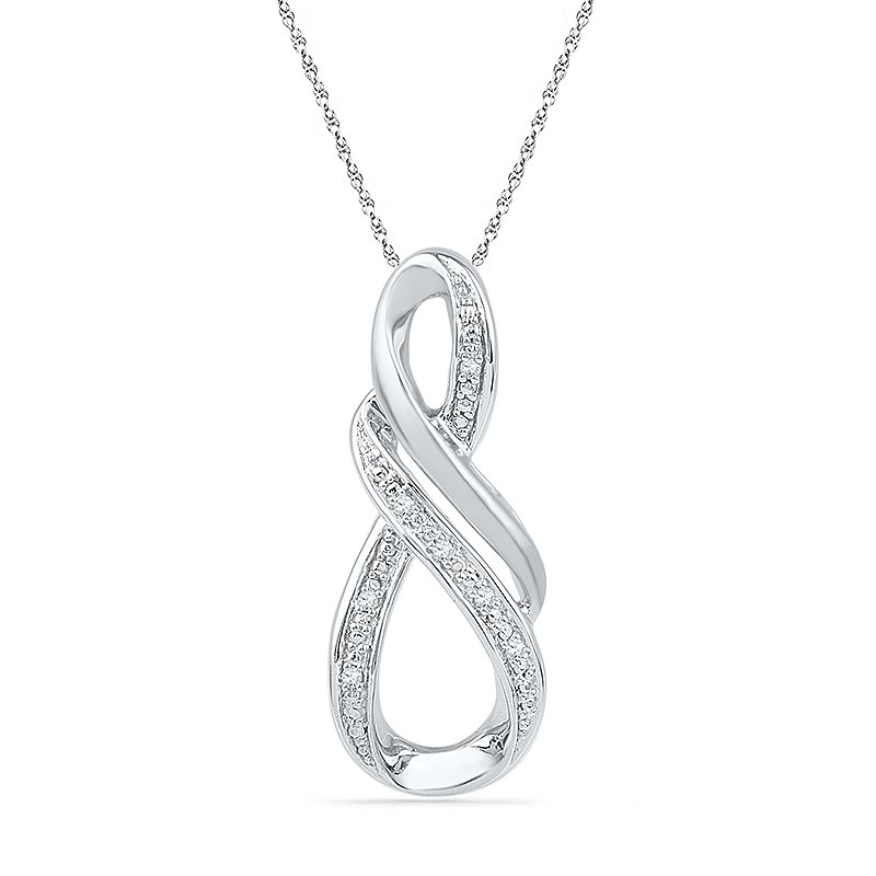 Gifts That Rock .03ctw Swirl Diamond Necklace