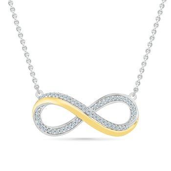 .05ctw Infinity Necklace