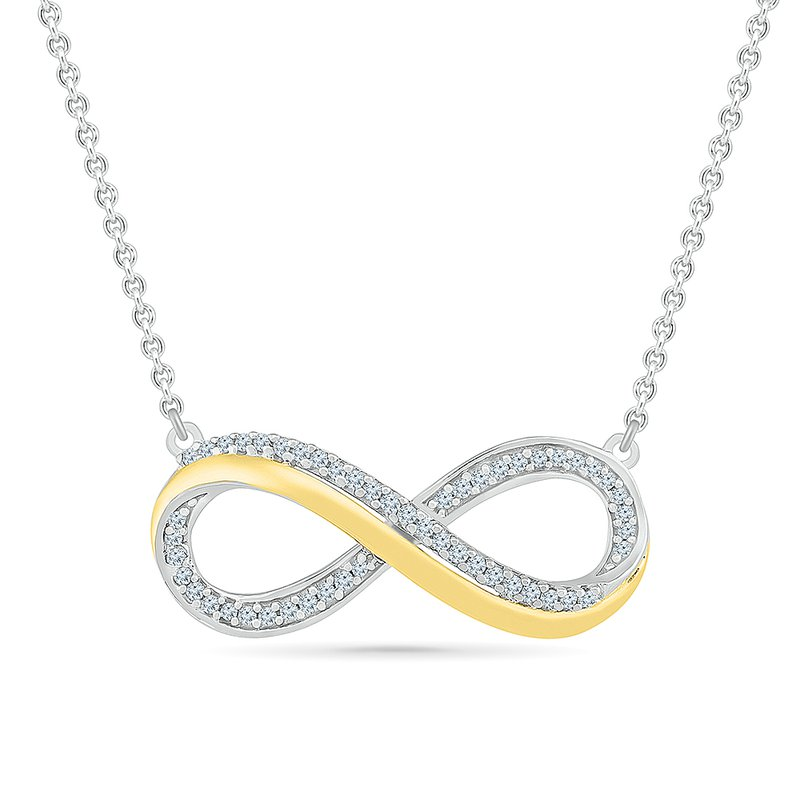 Saslow's & Henebry's Collection .05ctw Infinity Necklace