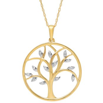 10k Diamond Tree of Life Pendant