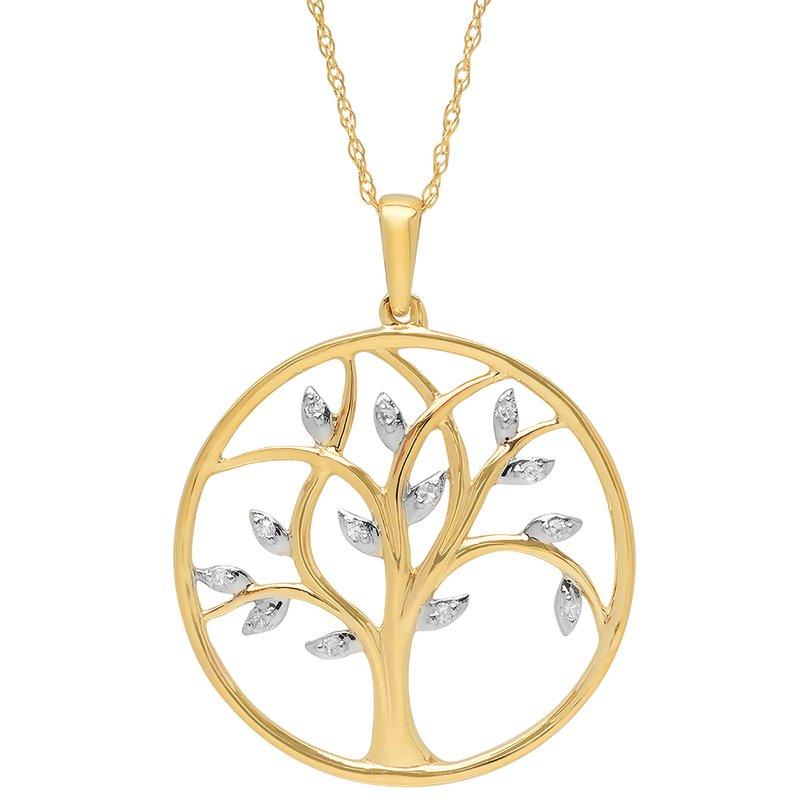 Saslow's & Henebry's Collection 10k Diamond Tree of Life Pendant