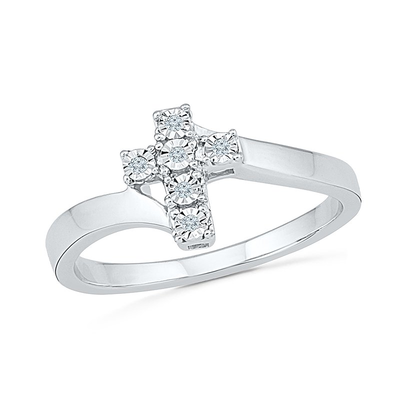 Gifts That Rock Diamond Cross Promise Ring