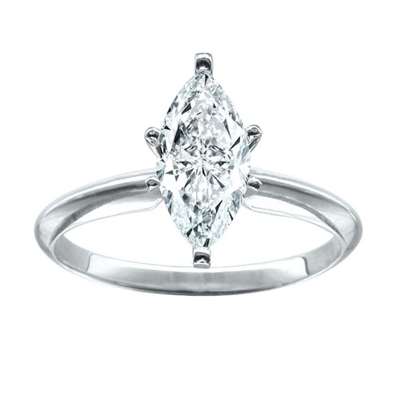 Saslow's & Henebry's Collection Certified 1/2 Ct Marquise Solitaire Engagement Ring