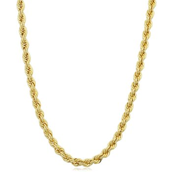 """14k 24"""" 3mm Hollow Rope Chain"""