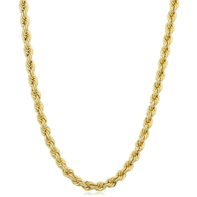"""Gold Chains and Bracelets  14k 24"""" 3mm Hollow Rope Chain"""