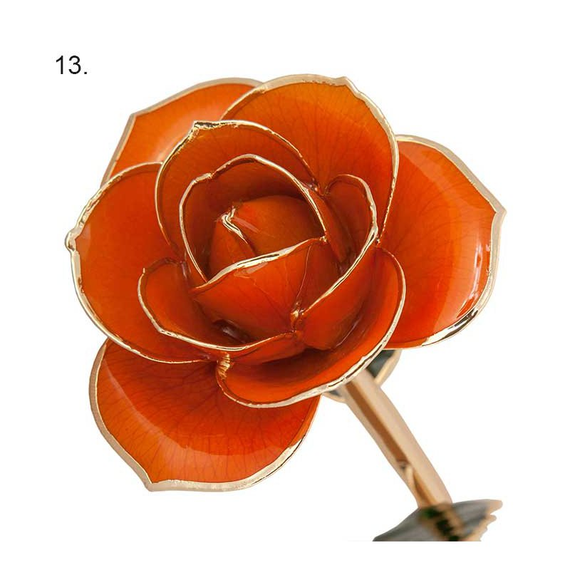 Gifts That Rock 24K Gold Dipped Real Roses (13 Color Options)