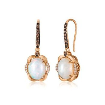 Le Vian Chocolatier Earrings featuring Neopolitan Opal Chocolate Diamonds, Vanilla Diamonds set in 14K Strawberry Gold