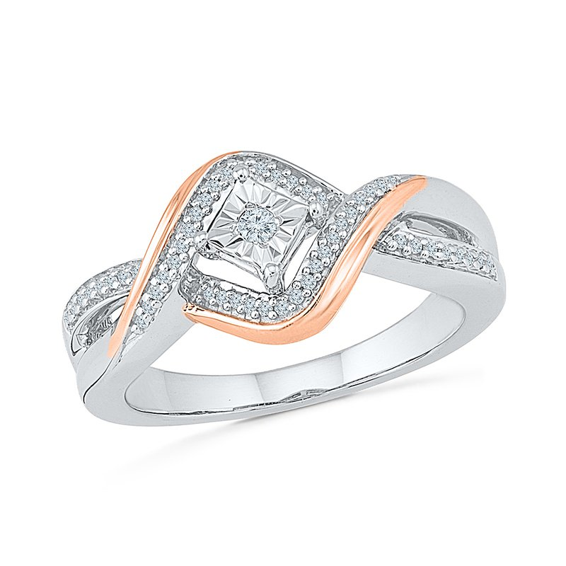 Gifts That Rock Princess Two Tone Promise Ring