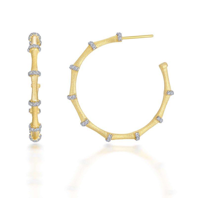 LaFonn Mixed-Color Bamboo Hoop Earrings