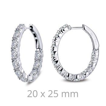 4.4 CTW Oval Hoop Earrings