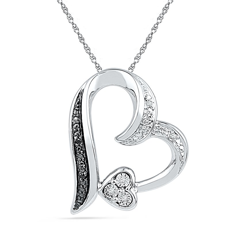 Gifts That Rock Diamond Heart Necklace