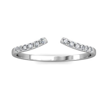 Open Cuff Curved Diamond Ring