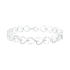 Gifts That Rock .05CTW Diamond Heart Bracelet