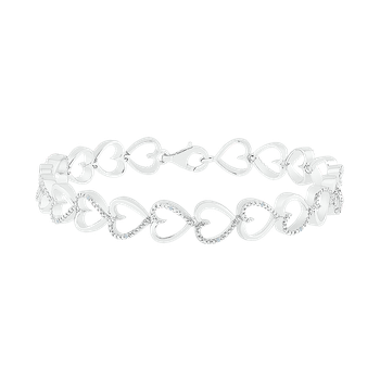 .05CTW Diamond Heart Bracelet