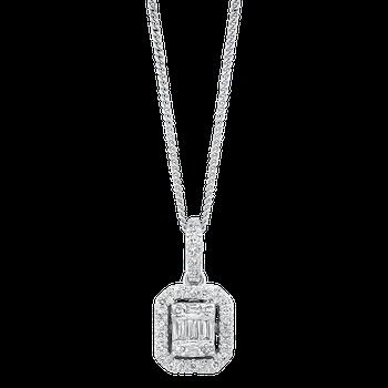1/3ctw Baguette Diamond Necklace
