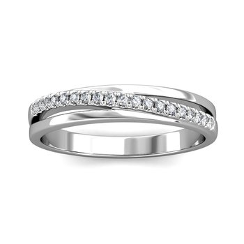 Diagonal Diamond Ring