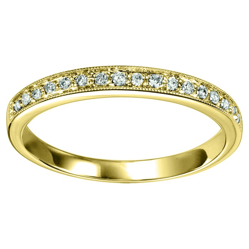 Saslow's & Henebry's Collection 1/8ctw Diamond Band YG