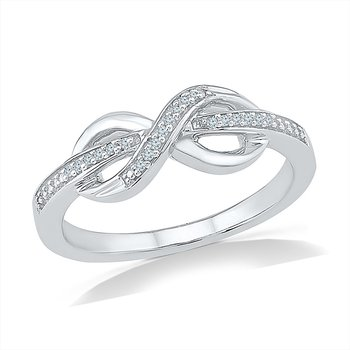 .05ctw Infinity Promise Ring
