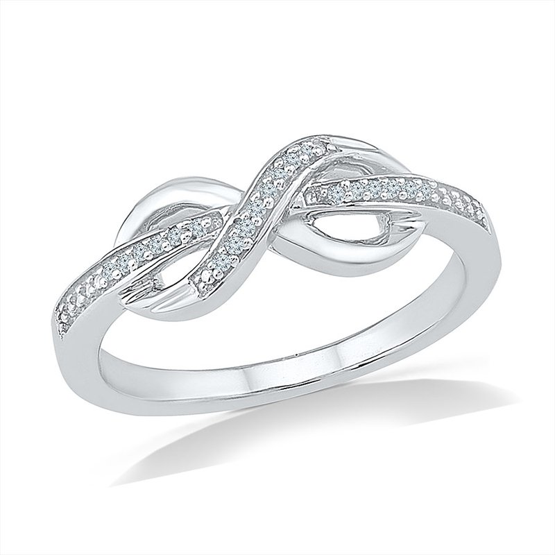 Gifts That Rock .05ctw Infinity Promise Ring