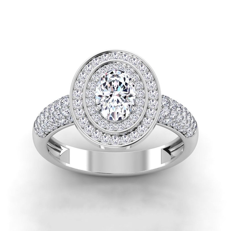 Lab Grown Diamonds Certified 1 5/8ctw Double Halo Engagement Ring