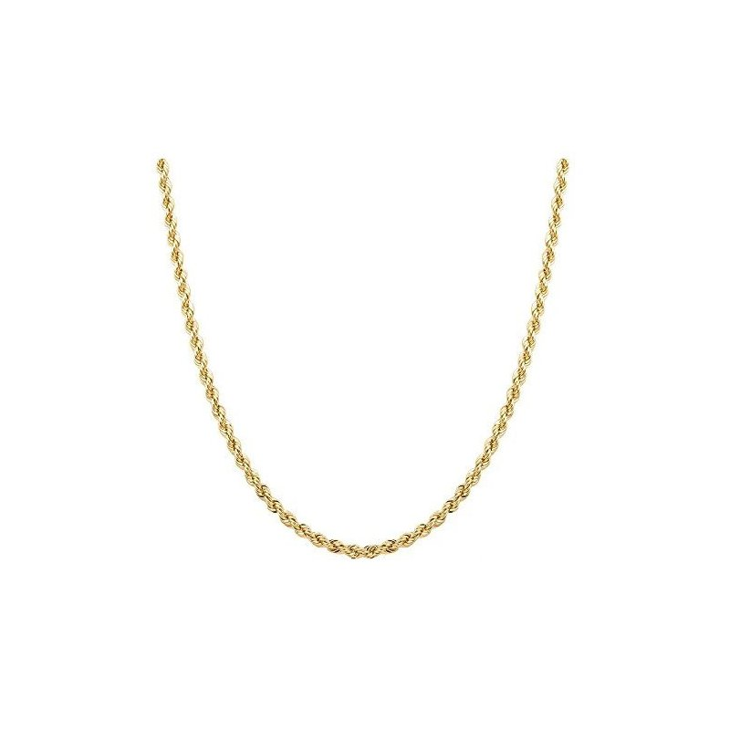 """Gold Chains and Bracelets  18"""" 3mm Lightweight Rope Chain"""