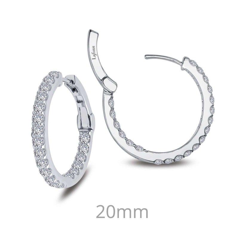 LaFonn 1.6 CTW Hoop Earrings