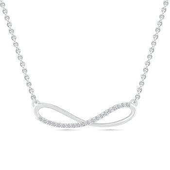 .12ctw Diamond Infinity Necklace