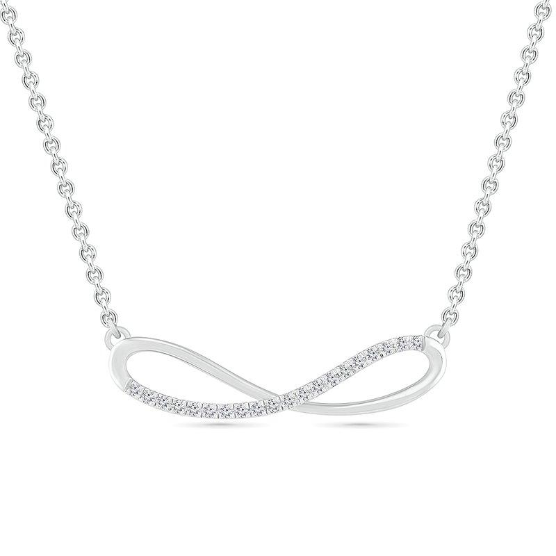 Saslow's & Henebry's Collection .12ctw Diamond Infinity Necklace