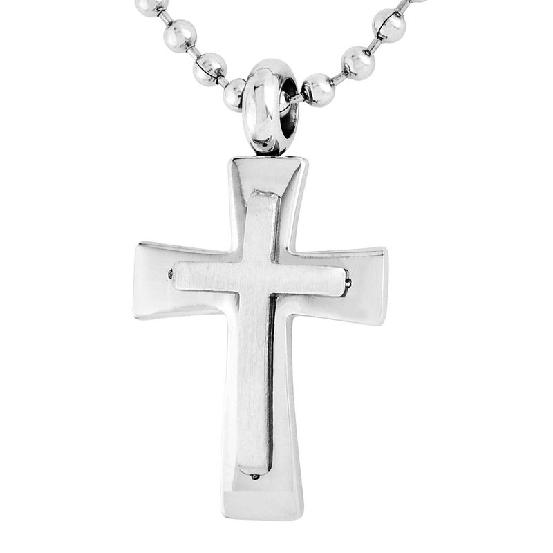 Gifts That Rock Steel Cross Necklace