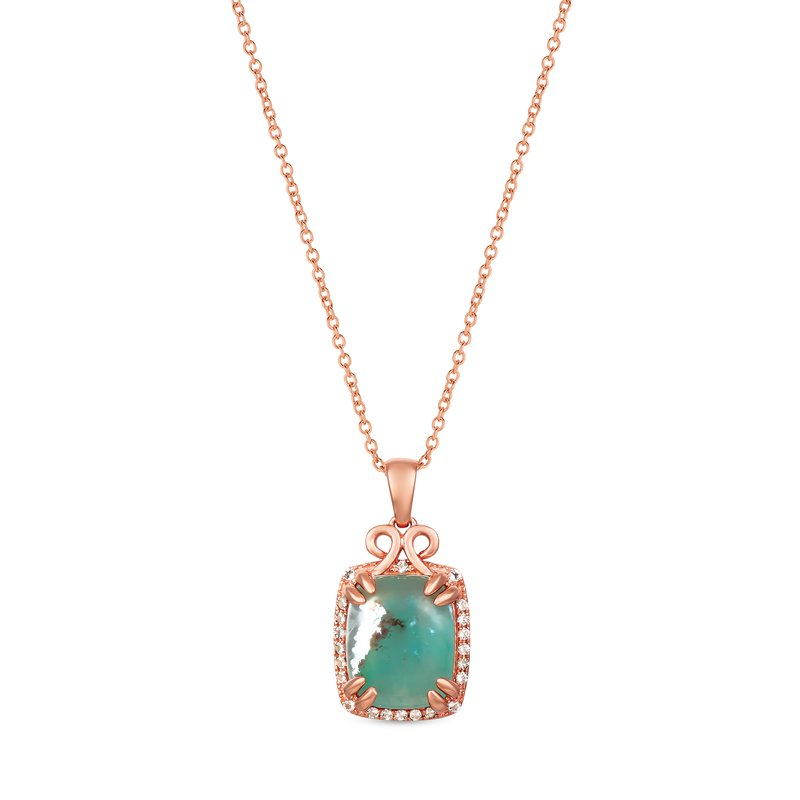 Le Vian Aquaprase Cushion Cut Pendant