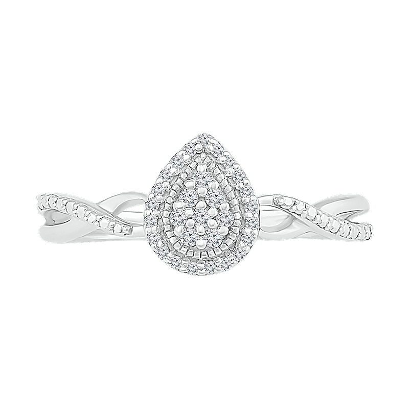 Gifts That Rock Pear Cluster Promise Ring