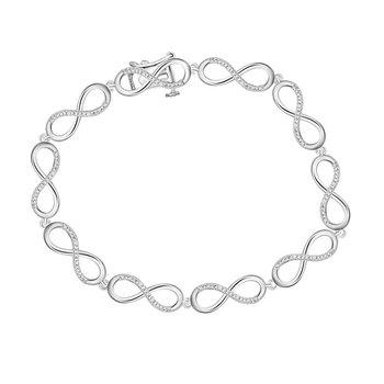 .05ctw Infinity Bracelet