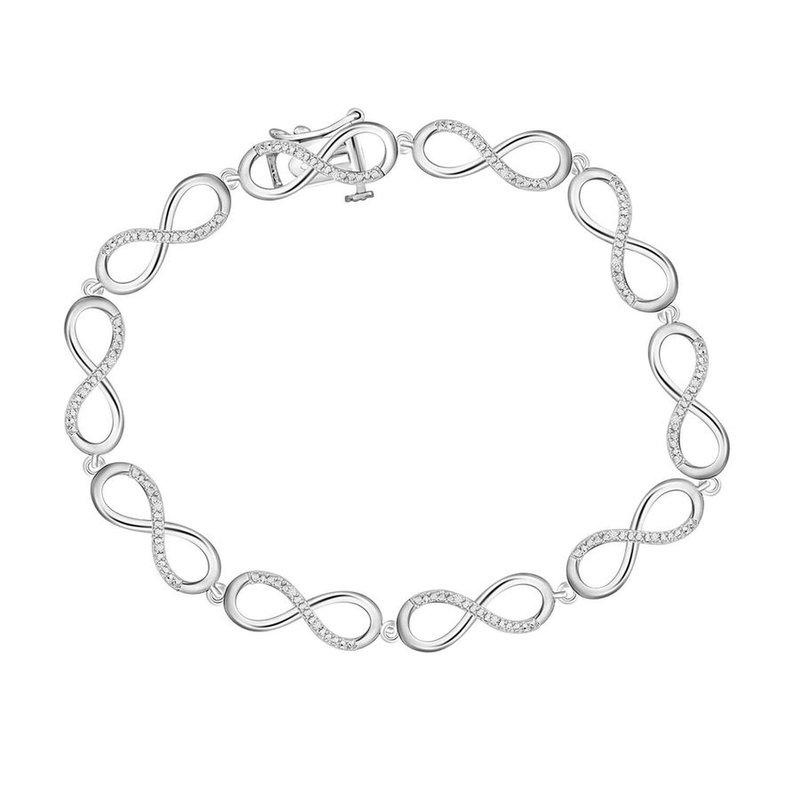 Saslow's & Henebry's Collection .05ctw Infinity Bracelet