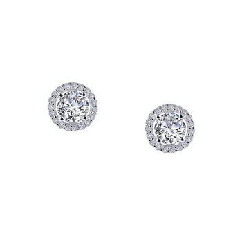 1.3 CTW Halo Stud Earrings